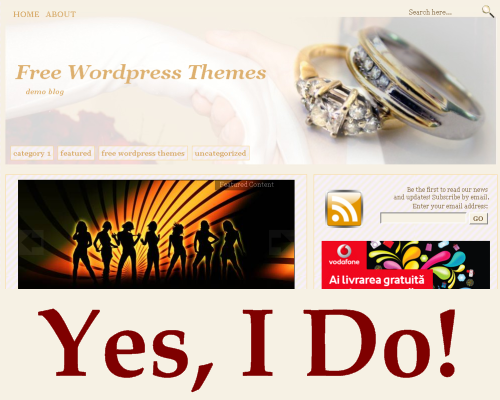 Wordpress Theme - Yes, I Do