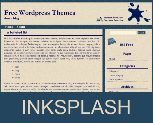Wordpress Themes Inksplash