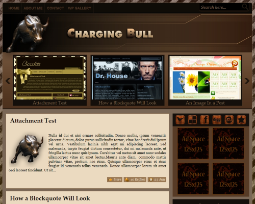 Charging Bull | Free WordPress Themes