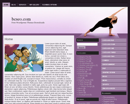 free wordpress theme Yoga WP 3