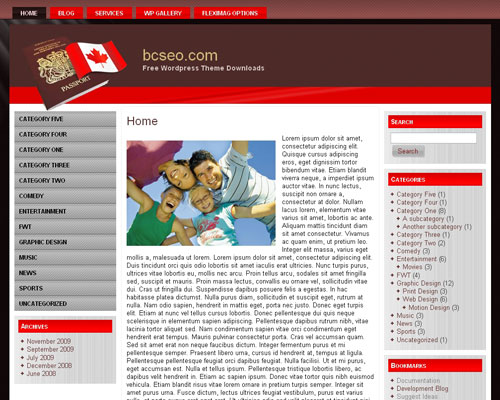 free wordpress theme Canada Immigration WP 3